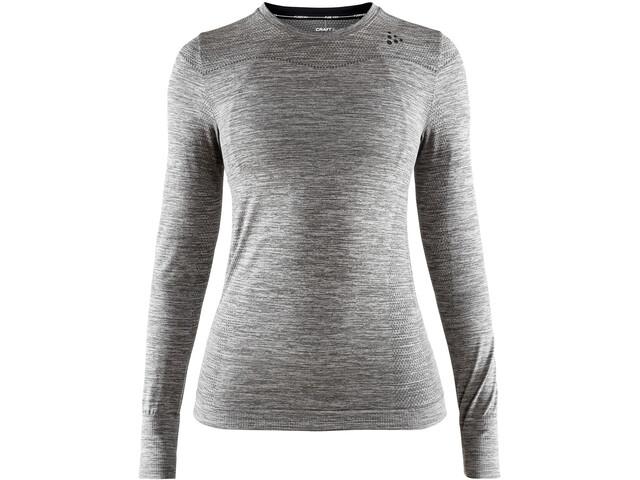 Craft Fuseknit Comfort Rundhals Langarmshirt Damen dark grey melange